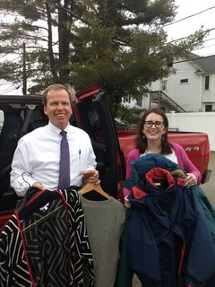 Register O'Donnell Delivers Donated Clothing to Circle of Hope, Needham, MA