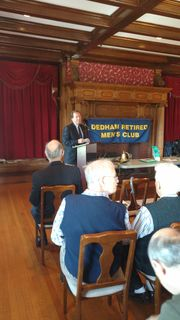 Register O'Donnell Guest Speaker at Dedham Retired Men's Club