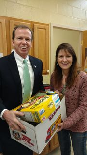 Register O'Donnell Delivers Donated Food to Milton Community Food Pantry