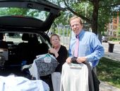 Register O'Donnell Delivers Donated Clothing to Jamaica Plain VA Healthcare Systems Voluntary Services Program