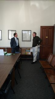 Register O'Donnell Holds Office Hours in Stoughton