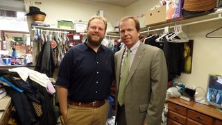 Register O'Donnell delivers Men's & Women's Suits to Interfaith Social Services