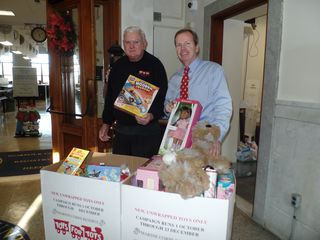 Register O'Donnell Delivers Toys for Tots