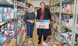 Register O'Donnell Delivers Donated Food to Wellesley Food Pantry